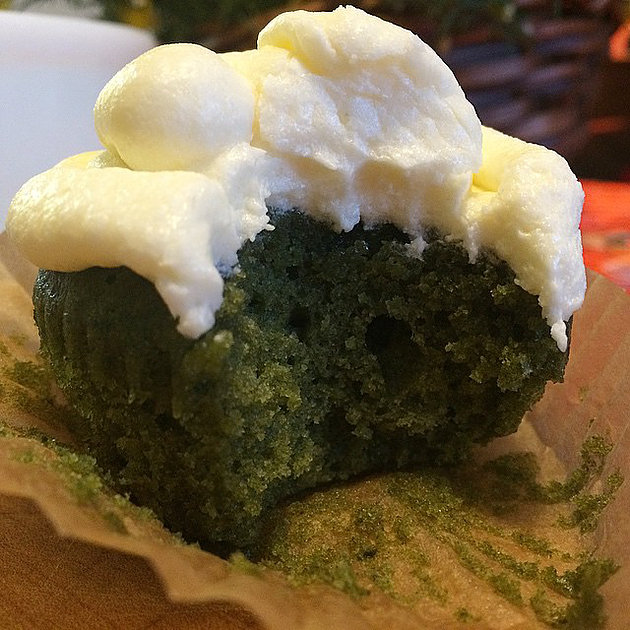 Nettle Lemon Balm Cupcake with Mascarpone Buttercream Frosting